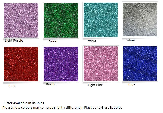 Plastic Bauble 8cm-PREORDER